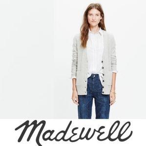 Madewell Gray University Merino Wool Cardigan XXS